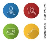 dentistry flat linear long... | Shutterstock .eps vector #1035493891