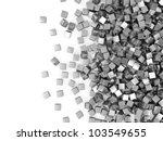 Metal Cubes On White Backgroun...