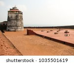 fort aguada and its lighthouse | Shutterstock . vector #1035501619