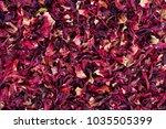 hibiscus tea background. close... | Shutterstock . vector #1035505399