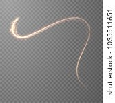 golden glowing shiny lines... | Shutterstock .eps vector #1035511651