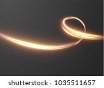 glowing shiny spiral lines... | Shutterstock .eps vector #1035511657