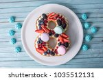 homemade cake in the shape of a ...   Shutterstock . vector #1035512131