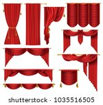 vector 3d realistic set of red... | Shutterstock .eps vector #1035516505