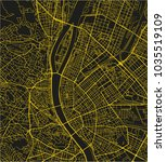 black and yellow vector city... | Shutterstock .eps vector #1035519109