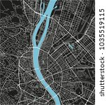 black and white vector city map ... | Shutterstock .eps vector #1035519115
