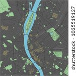 budapest vector map with dark... | Shutterstock .eps vector #1035519127
