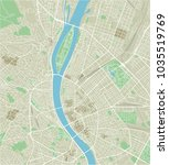 vector city map of budapest... | Shutterstock .eps vector #1035519769