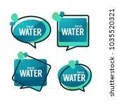 natural water  vector logo ... | Shutterstock .eps vector #1035520321
