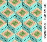 seamless geometrical hexagonal... | Shutterstock .eps vector #1035521731