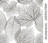 seamless pattern with leaves....   Shutterstock .eps vector #1035527005