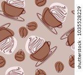 irish glass mug with straw...   Shutterstock .eps vector #1035528229