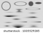 vector shadows isolated. set of ... | Shutterstock .eps vector #1035529285