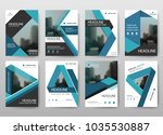 blue bundle annual report... | Shutterstock .eps vector #1035530887