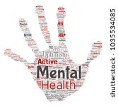 conceptual mental health or... | Shutterstock . vector #1035534085