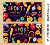 sport banners colorful cute... | Shutterstock .eps vector #1035536131