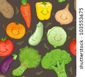 cute funny vegetables vector... | Shutterstock .eps vector #103553675