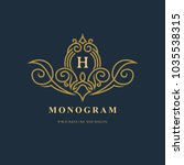 monogram design elements ... | Shutterstock .eps vector #1035538315