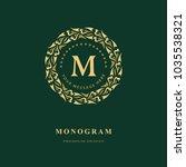 monogram design elements ...   Shutterstock .eps vector #1035538321