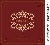 monogram design elements ... | Shutterstock .eps vector #1035538345