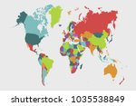 political world map | Shutterstock .eps vector #1035538849