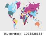 political world map | Shutterstock .eps vector #1035538855