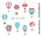 set of vector illustration of... | Shutterstock .eps vector #1035548014