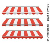 a set of striped awnings ...   Shutterstock .eps vector #1035549499