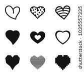 cardiac icons set. simple set... | Shutterstock .eps vector #1035557335