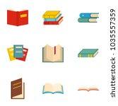 reader icons set. cartoon set... | Shutterstock .eps vector #1035557359