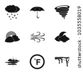 climatic icons set. simple set... | Shutterstock .eps vector #1035558019