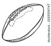 vector single sketch ball for... | Shutterstock .eps vector #1035559747