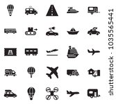 solid black vector icon set  ... | Shutterstock .eps vector #1035565441