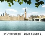 big ben and houses of... | Shutterstock . vector #1035566851