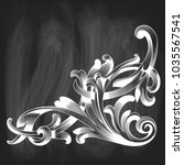 vector chalk drawing decorative ... | Shutterstock .eps vector #1035567541