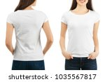 front and back views of young... | Shutterstock . vector #1035567817