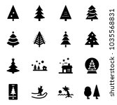 solid vector icon set  ... | Shutterstock .eps vector #1035568831