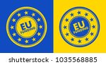 eu funding stamp   approval to... | Shutterstock .eps vector #1035568885
