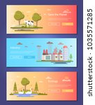 save the planet   set of modern ... | Shutterstock .eps vector #1035571285