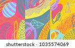 creative doodle art header with ... | Shutterstock .eps vector #1035574069