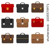 briefcase  business briefcase.... | Shutterstock .eps vector #1035575971