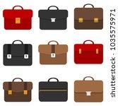 briefcase  business briefcase....   Shutterstock .eps vector #1035575971