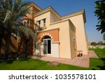 dubai villa in sport city... | Shutterstock . vector #1035578101