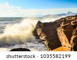 storm on the sea in the bay | Shutterstock . vector #1035582199