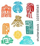 ancient maya elements and... | Shutterstock .eps vector #103558565