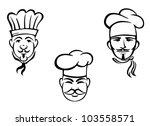 european restaurant chefs set... | Shutterstock .eps vector #103558571