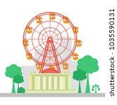 ferris wheel at park. ferris... | Shutterstock .eps vector #1035590131