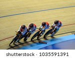 Small photo of Malaysia, February 16th 2018: Japan athlete's in action during 38th Asian Track Championships 2018 at National Velodrome in Nilai.