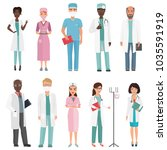doctors  nurses and medical... | Shutterstock . vector #1035591919