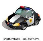 police car. vector illustration ... | Shutterstock .eps vector #1035594391